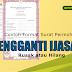 Contoh Format Surat Permohonan Pengganti Blangko Ijazah