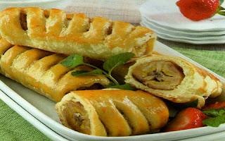Resep Membuat Roti Pisang Kopi Gulung