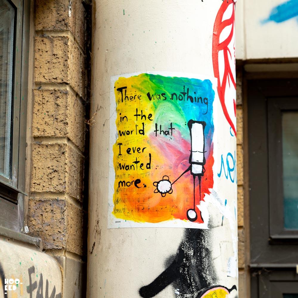 My Dog Sighs - Street Art Paste-ups on Buxton Street