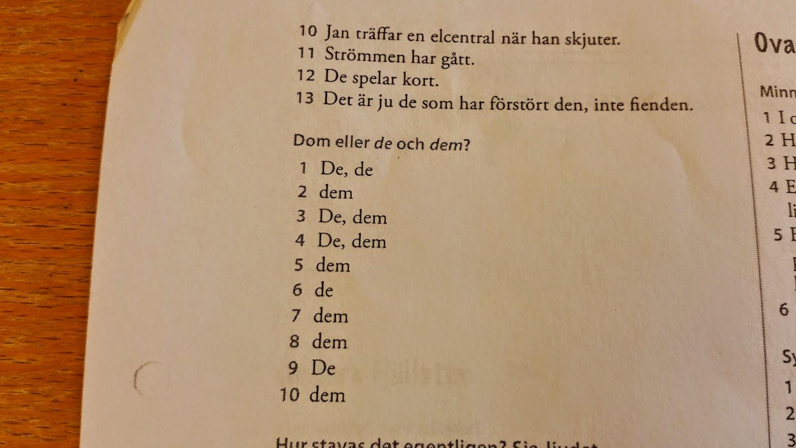 grundläggande svenska 2