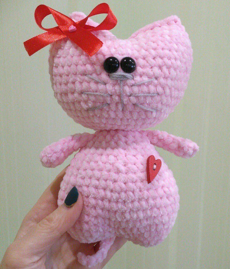 Kitty heart amigurumi