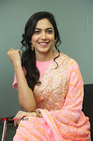 Actress Ritu Varma Pos in Beautiful Pink Anarkali Dress at at Keshava Movie Interview .COM 0240.JPG