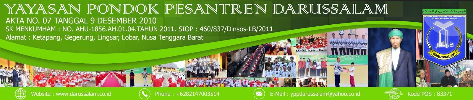 Yayasan Pondok Pesantren Darussalam | www.darussalam.co.id