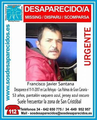 Francisco Javier Santama Desaparecido en Las Rehoyas, Las  Palmas de Gran Canaria