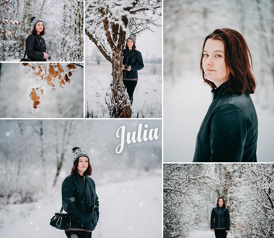 Zimowa sesja plenerowa z Julką | Fotograf Niemce Lublin Lubartów