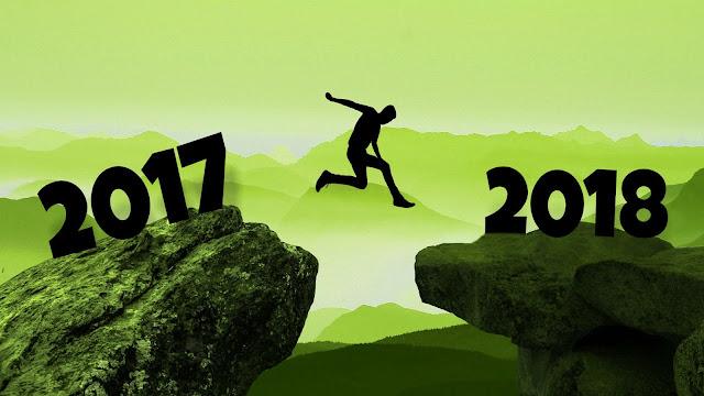 We springen van 2017 naar 2018!