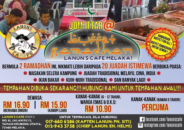 lanun cafe melaka krubong buffet ramadhan
