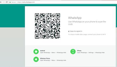 Cara MlLihat Kode QR Whatsapp Sendiri di Android 2018