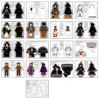 Halloween Cut and Sew Dolls Fabric Designs
