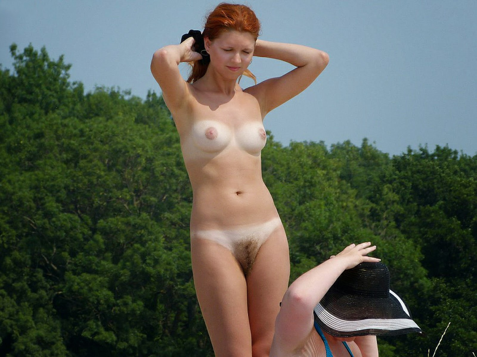 Nudism - Photo - Hq  Tanlines - Girls - Nude Beach-9569