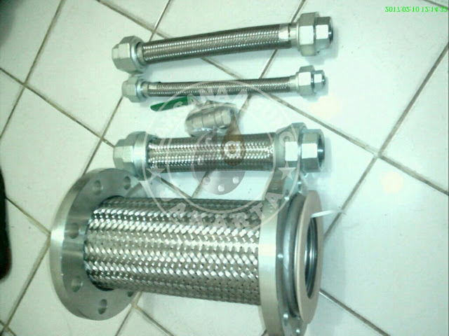 JUAL FLEXIBLE HOSE STAINLESS STEEL