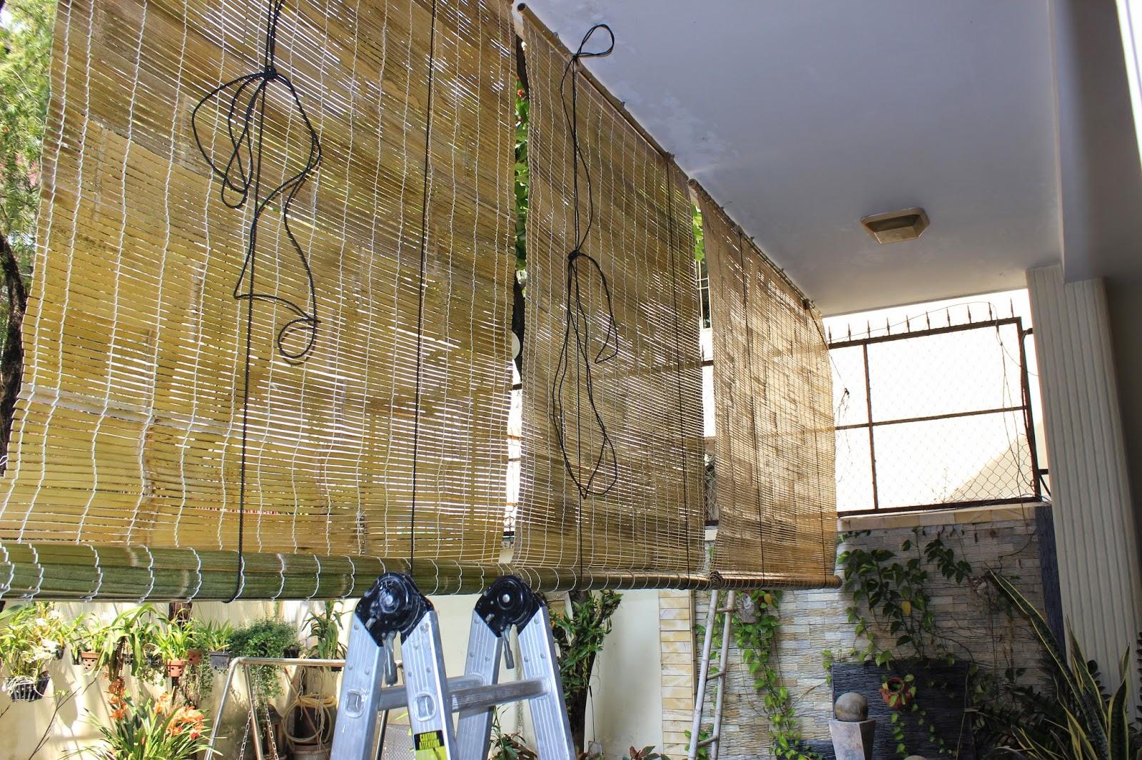 Rèm tre trúc ngoài ban công