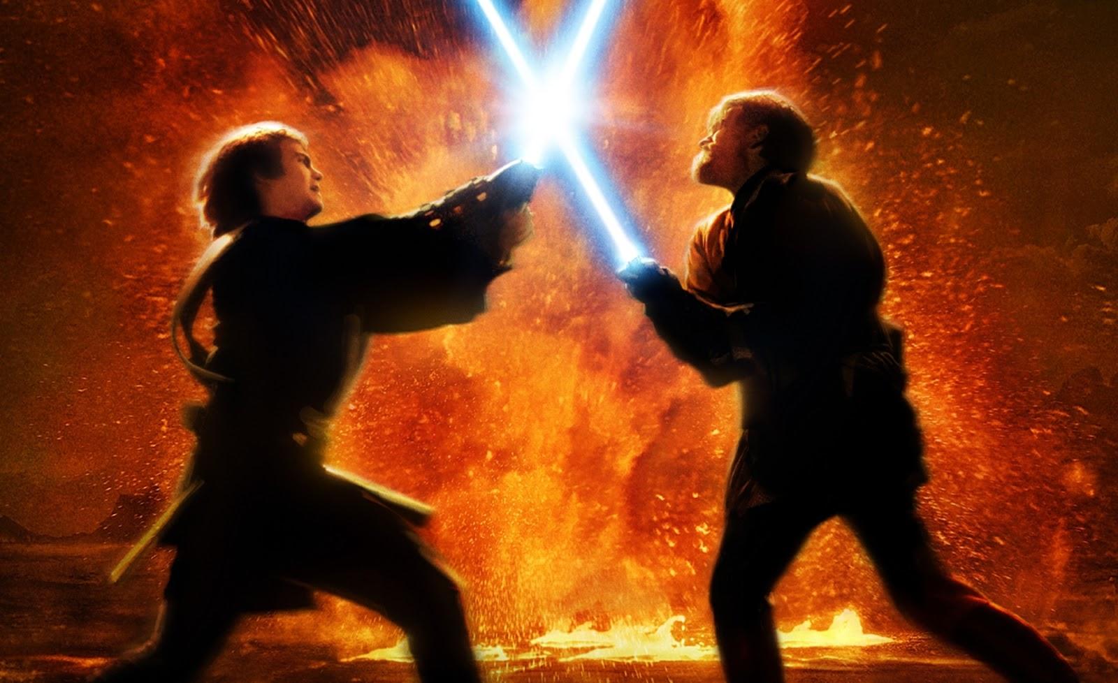Batalla entre Anakin y Obi-Wan