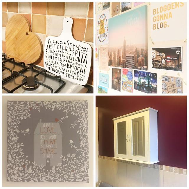 Kitchen accessories, prints, bathroom