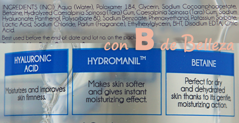 Ingredientes agua micelar acido hialuronico