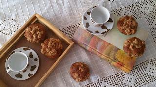 muffins dulce magdalena mayonesa canela streusel avena fit healthy originales diferentes desayuno merienda postre horno esponjosos húmedos tiernos cuca
