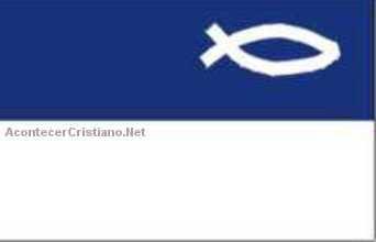 Símbolo cristiana en bandera de partido político
