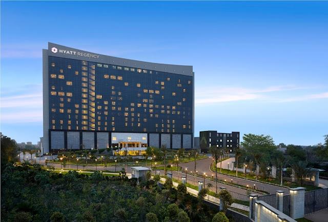 Hyatt Regency Gurgaon Exterior Facade.