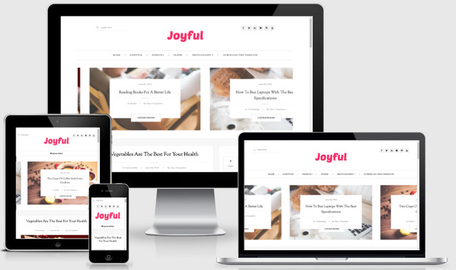 JoyFul Fashion Responsive Blogger Templates