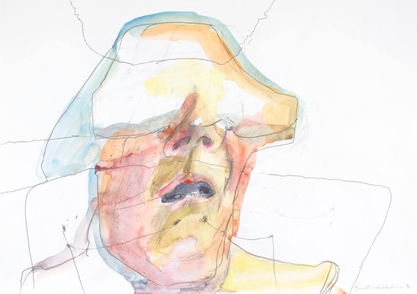 Maria Lassnig - Face Layer Lines, 1996