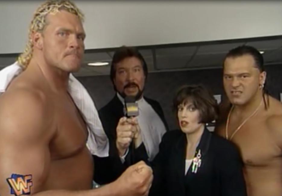 WWF / WWE - King of the Ring 1995 - Million Dollar Corporation members Sid and Tatanka w/ Ted Dibiase