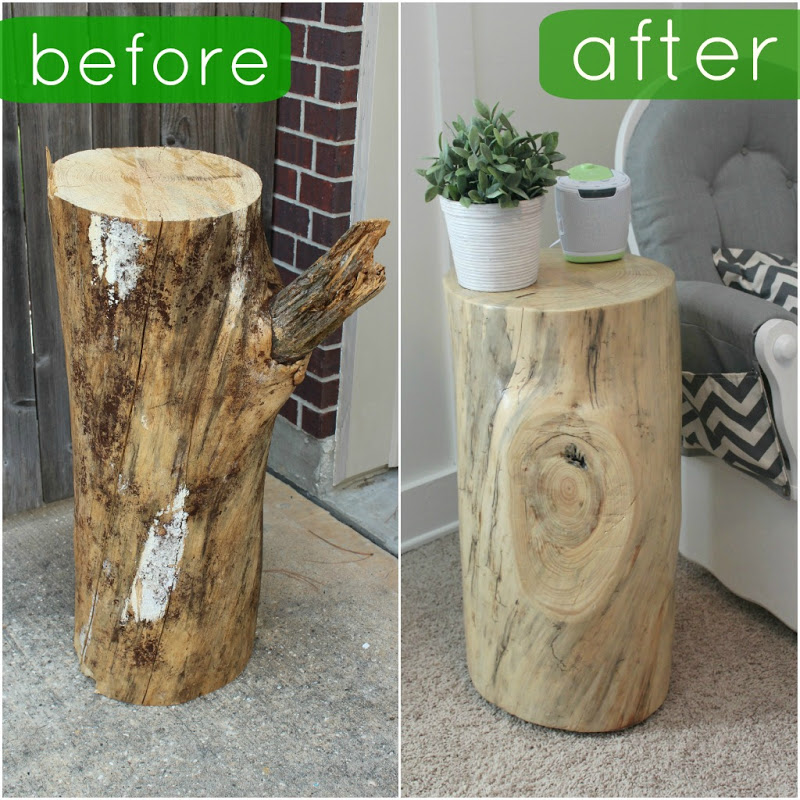 fun with the fullwoods diy tree trunk table