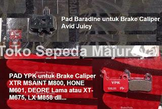 Brake Pads Baradine untuk Brake Caliper Avid Juicy dan YPK untuk Brake Caliper XTR MSAINT M800, HONE M601, DEORE Lama atau XT-M675, LX M858