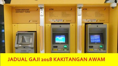 tarikh pembayaran gaji 2018 kerajaan