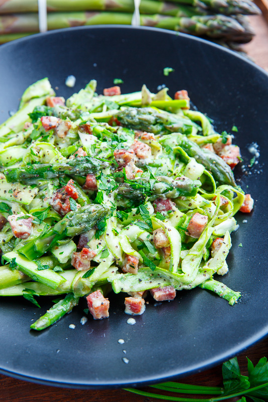 Asparagus Carbonara Recipe — Dishmaps