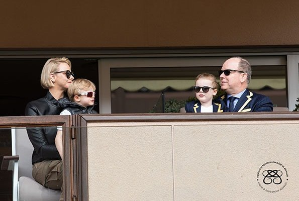 Prince Albert, Princess Charlene, Crown Prince Jacques and Princess Gabriella