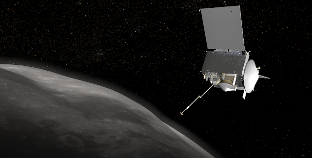 OSIRIS-REx Spacecraft at Bennu. Image Credit: NASA