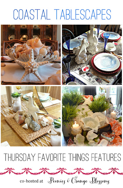 Fun Coastal Themed Tables - featured at Thursday Favorite Things
