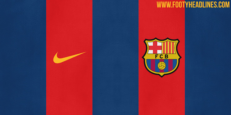 Leaked Barcelona 16 17 Home Kit Colors Design Footy Headlines