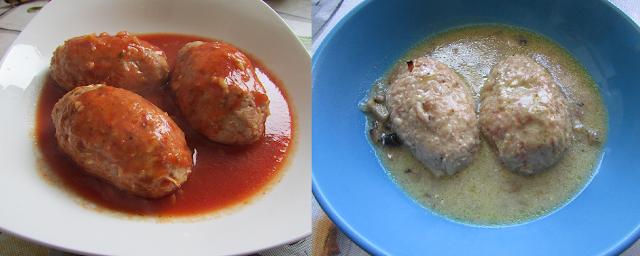 leniwe gołąbki w dwóch sosach