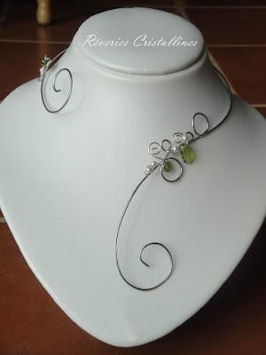 collier mariée dahlia