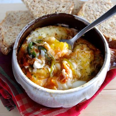 http://www.nutritionistinthekitch.com/easy-italian-baked-eggs-gluten-free/