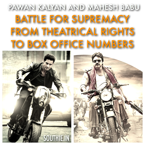 Pawan Kalyan and Mahesh Babu a seesaw battle of Power. Battle for Surpremacy, from theatrical rights, to big box office numbers. Pawan Kalyan and Mahesh Babu battle heats up. Pawan Kalyan, Mahesh Babu, Superstar, Powerstar, Upcoming movie business of Mahesh Babu, Upcoming Movie Business of Pawan Kalyan, Southie, Southie.in