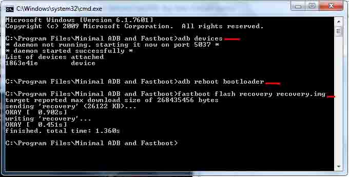 fastboot flash recovery img failed relationship