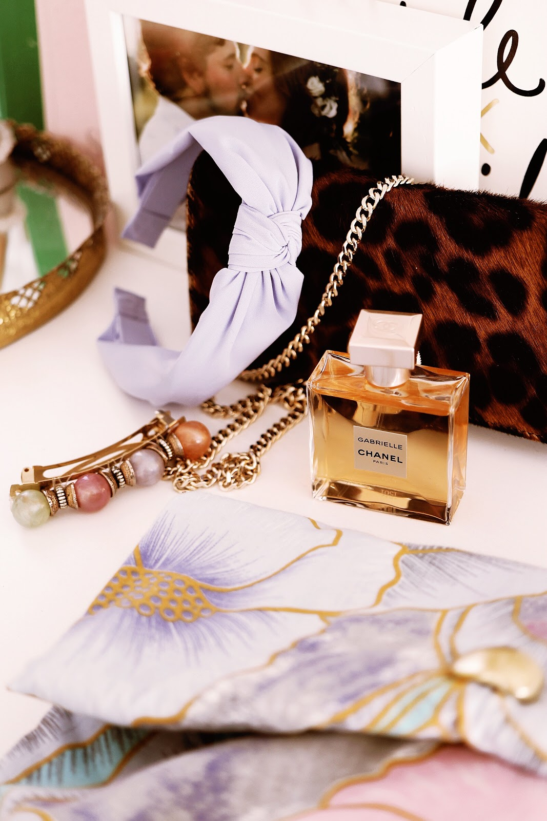 blogger hair accessories, Gabrielle Chanel perfume