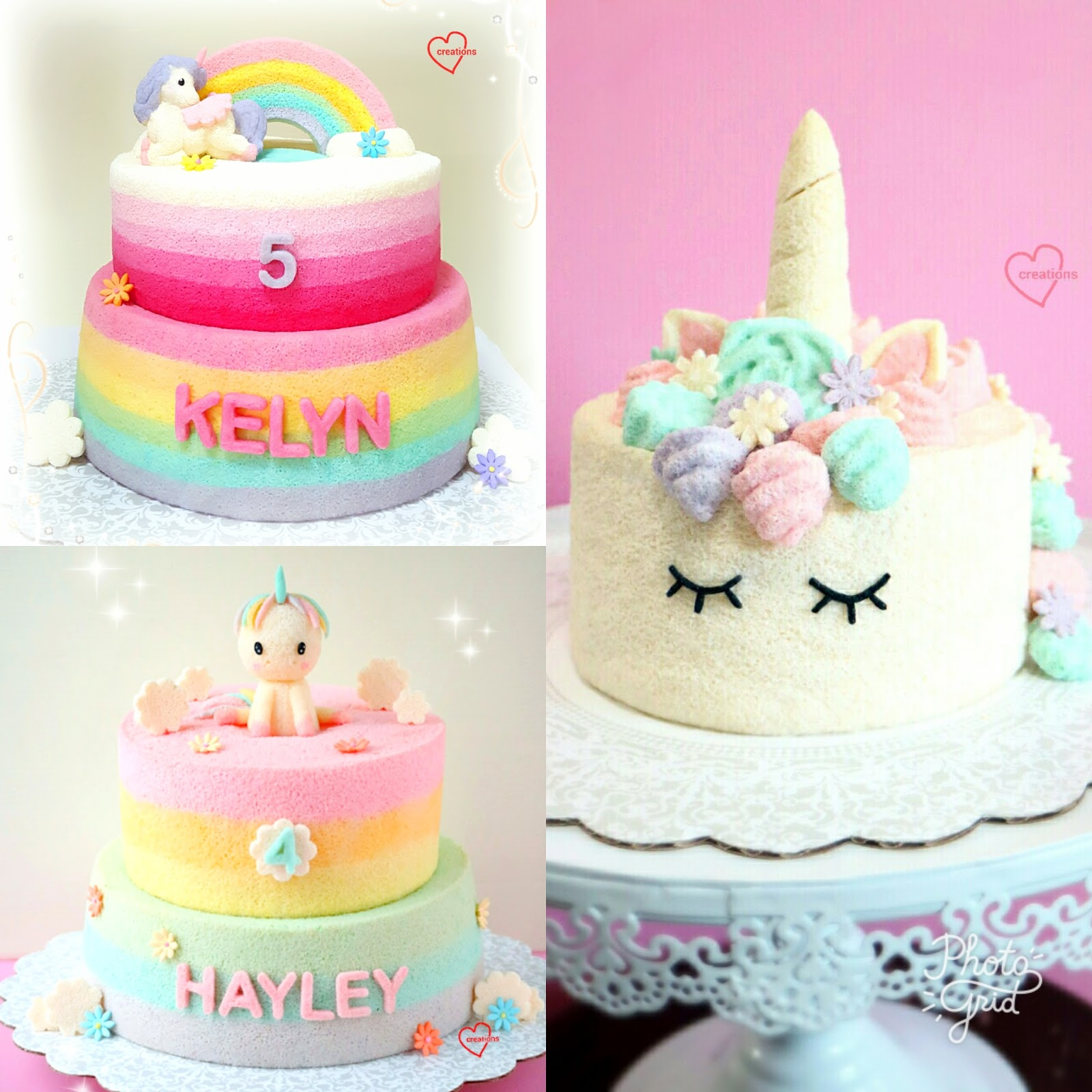 Heres A New Unicorn Chiffon Cake With Rainbow On Top Of Ive Made Number Different Cakes For My Friends