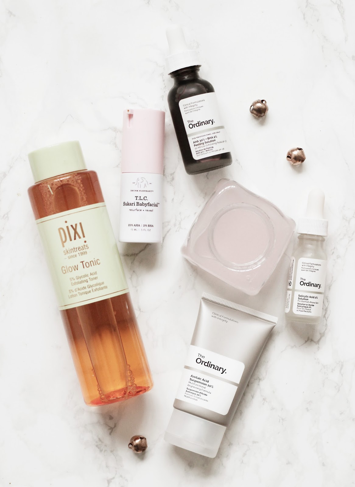 The Ordinary, Pixi Glow Tonic, Drunk Elephant Baby Facial Review