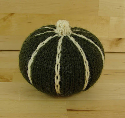 decorative, ornamental, pumpkin, knitted, green, white