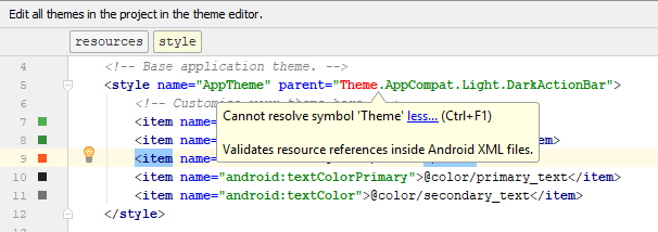 Dominoc925 Fixing Cannot Resolve Symbol Theme Error In Android Studio