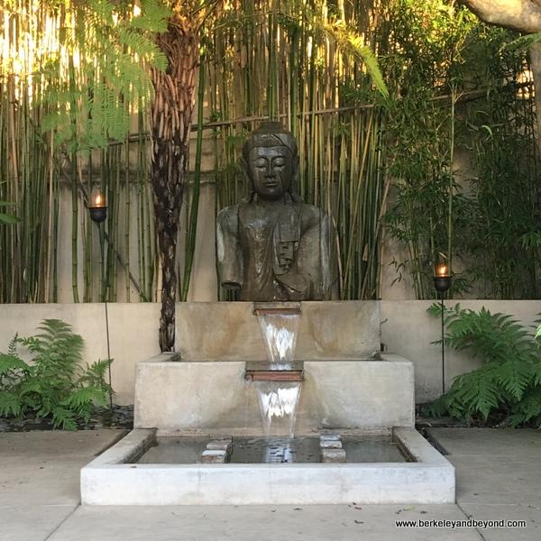 zen decor in courtyard at Tradewinds Carmel in Carmel, California