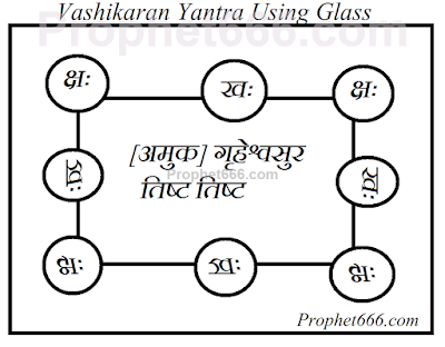 Vashikaran Yantra Using Glass to cast a spell on any boy or girl