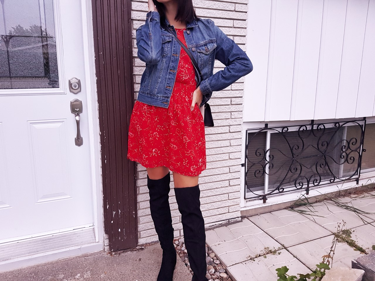 fashion, outfit, street style, fall fashion, fall style, over the knee boots, Aldo, dynamite dress, forever 21, high street style, styled by me, fashion blogger, Montreal