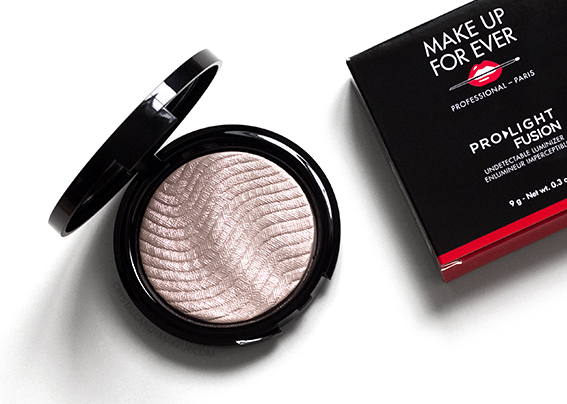 Make Up For Ever Pro Light Fusion Luminizers 01 Golden Pink Review Photos