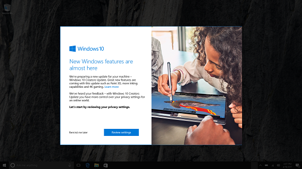 Microsoft starts rolling out Windows 10 Creators Update