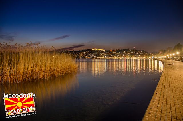 Ohrid city at night, #Macedonia