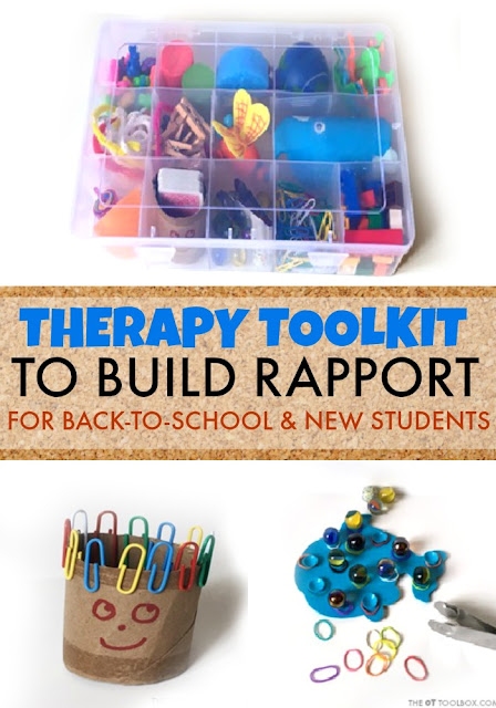 Work on fine-motor-skills with this occupational therapy toolkit that is perfect for back-to-school and building rapport with kids at the start of a new school year.